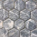 Recycled Glass Hexagon Bardiglio 2 Inch