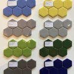 Enamel Glass 2'' Hexagons