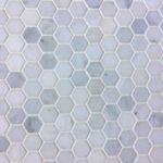 1'', 2'', 3'', 6'' Oriental White Hexagon