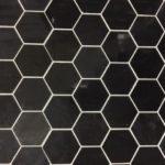 1'', 2'' Jet Black Polished Hexagon